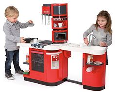 "Smoby Cook Master Electronic Roleplay Kitchen with 36 Accessories & Magical Foods, 39"", Red - Cool Kitchen Gifts"