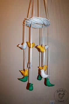 12 cotton birds