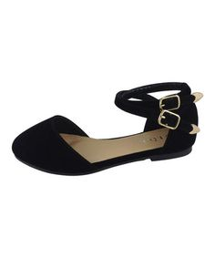 Love this Black Double Ankle Strap Diana Flat on #zulily! #zulilyfinds