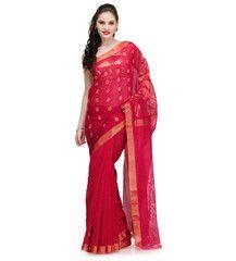 Red Zari Woven Cotton Silk Saree | Fabroop USA | $60.00 |