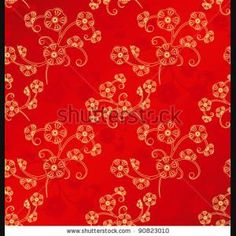 Oriental chinese new year cherry blossom seamless pattern background stock vector