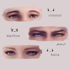 Connor, Markus e Kara Life Is Strange, Dechart Bryan, Bd Cool, Quantic Dream, Detroit Become Human Connor, All Meme, Becoming Human, Satsuriku No Tenshi, I Like Dogs