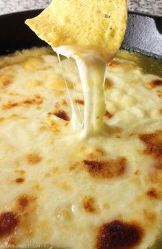 Perfect for Cinco De Mayo - Tomatillo Verde Sauce & Cheese Dip.