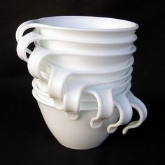 Vintage Corelle Winter Frost Cups--There is definitely something to be said for stackable tea cups!!  Great for my tiny cupboards.