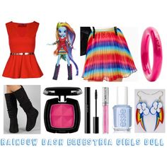 Rainbow Dash (Equestria Girls Doll) - Polyvore