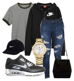 """""""Untitled #140"""" by kingrabia on Polyvore featuring L.L.Bean, NIKE and Tommy Hilfiger"""