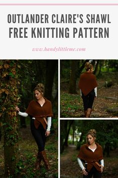 Outlander Shawl Pattern - Make a simple knitted shawl inspired by Claire Fraser with this beginner friendly free knitting pattern.