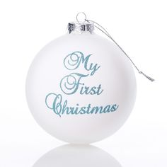 b74850527b9 My First Christmas Boy - These stunning matt white 10cm Christmas baubles  feature  My First