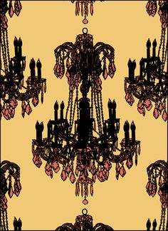 Click to see the actual VN210-L - Chandeliers stencil design.