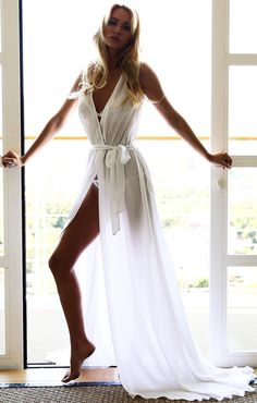 Sexy Women Sleeveless Chiffon Maxi Bikini Swimwear Cover Up Beach Dress -- BuyinCoins.com