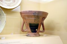 Byzantine chafing dish, dating from the 11th/12th century. On display in the Ancient Agora Museum in Athens.