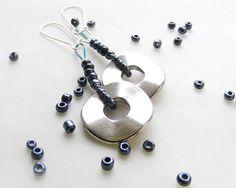 Beaded hoop earrings  by kapelusznik, $12.70