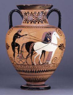 Black Figured Neck Amphora  510-500 BC  Attic/Archaic Greek  (Source: The British Museum)