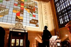 Financial Times Unveils 70-Foot Interactive Wall in Grand Central Terminal
