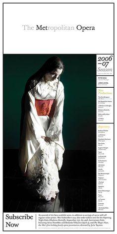 The Metropolitan Opera by Pentagram , via Behance
