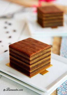 Indonesian mocha layer cake