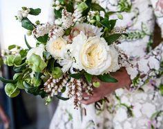 Stunning Wedding Bouquet: whimsical, natural, elegant peonies, beach wedding