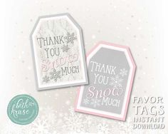 A personal favorite from my Etsy shop https://www.etsy.com/listing/254982426/winter-printable-favor-tags-by-beth