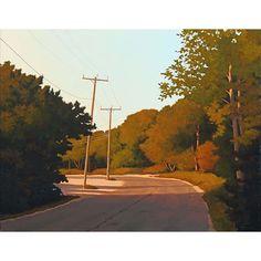 Jim Holland - Present), American Artist - Road by the Pond - 22 x 28 Fantasy Landscape, Landscape Art, Landscape Paintings, Edward Hopper, Jack Vettriano, American Artists, Artist Art, Art Inspo, Cool Art