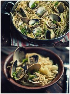 Linguine w Fennel and Clams. 20 minutes to the most gratifying weeknight meal! Linguine Recipes, Pasta Recipes, Mussel Recipes, Clean Eating Meal Plan, Clean Eating Recipes, Dinner Dishes, Fish Dishes, Clams, Kid Friendly Meals