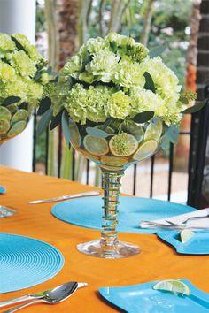 Food Table Idea - Grand Margarita & Glitter Stems