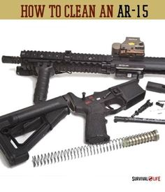 Check out our how to clean an AR-15 tutorial. Survival Life is the best source for prepper survival gear and tips.