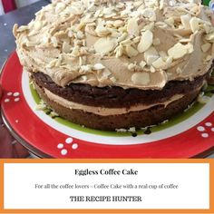 For all the coffee lovers - Coffee Cake with a real cup of ☕ Cupcake Recipes, Cupcake Cakes, Cupcakes, Tasty, Yummy Food, Coffee Cake, Pudding, Homemade, Vegan