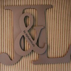 Initial Monogram Wall Decor Painted Wooden Wall by Alphabeticals, $18.00.  could do two