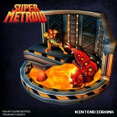 ArtStation - Super Metroid fan art Low poly model Press, Jason Gil