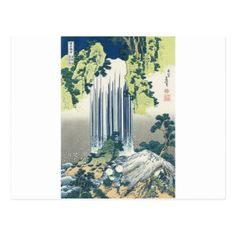 Blue Waterfall Postcard - postcard post card postcards unique diy cyo customize personalize