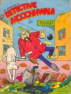 Detective Moochwala (Vintage comic strip) by Ajit Ninan
