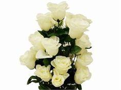 96 Giant Rose Bud Bush - Cream   eFavorMart