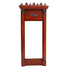 Danish Second Empire Mirror in Cuban Mahogany, circa 1830 | From a unique collection of antique and modern wall mirrors at https://www.1stdibs.com/furniture/mirrors/wall-mirrors/