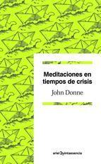 meditaciones en tiempos de crisis-john donne-9788434405363