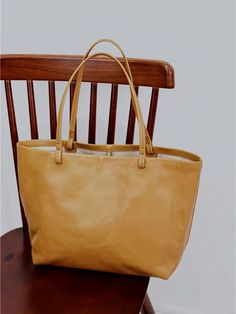 "Material: Cowhide Color: Tan Dimensions:Inches: Height 11"" x Width 12.6""-17.7"" x Depth 5.1"" Inches Backpack Bags, Tote Bags, Shopper Tote, Vintage Bags, Purses And Bags, Backpacks, Totes, Leather, Tote Bag"