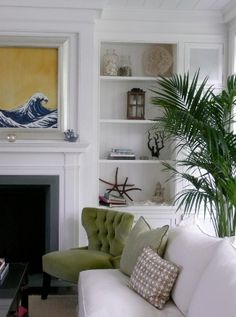 Casual Costal New England Feel, great mantel