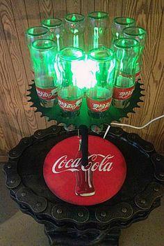 Unique Coca-Cola Bottle Desk Lamp Light Made in the USA, Coke, Soda, Pop