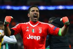 Gianluigi Buffon of Juventus celebrates  at the end of the UEFA Champions League Round of 16 Second Leg match between Tottenham Hotspur and Juventus at Wembley Stadium on March 7, 2018 in London, United Kingdom. - 123 of 209