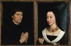 Tommaso di Folco Portinari (1428–1501); Maria Portinari (Maria Maddalena Baroncelli, born 1456)  Artist:Hans Memling (Netherlandish, Seligenstadt, active by 1465–died 1494 Bruges)