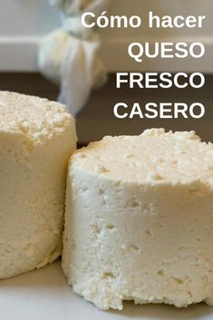Cómo hacer QUESO FRESCO CASERO - Yo Soy Pachamamista Mexican Food Recipes, Snack Recipes, Cooking Recipes, Snacks, Charcuterie, Queso Fresco Recipe, Helathy Food, Bolivian Food, Cooking Cheese
