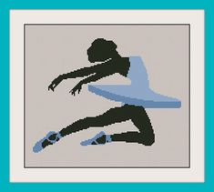 Ballet dancer cross stitch pattern, Cross stitch pattern PDF, Instant Download, Free shipping,Instant Download, Cross-Stitch PDF,R110