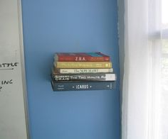 Invisible bookshelf instructable