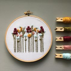 Embroidery For Beginners Hand Embroidery Kit - Beginner Embroidery Kit, DIY Hoop Art, Autumn Wildflowers, Fall Colors, Modern - Floral Embroidery Patterns, Dmc Embroidery Floss, Learn Embroidery, Japanese Embroidery, Hand Embroidery Stitches, Embroidery Hoop Art, Crewel Embroidery, Hand Embroidery Designs, Ribbon Embroidery
