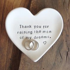 Image of Mother of the Groom Gift, Thank You for Raising the Man of my Dreams, Gift Boxed, MADE TO ORDER . Wedding Gifts For Parents, Mother Of The Groom Gifts, Wedding Thank You Gifts, Gifts For Wedding Party, Bride Gifts, Our Wedding, Dream Wedding, Wedding Ideas, Gifts For Groom