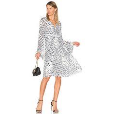 Sheer panel mini dress white or blue