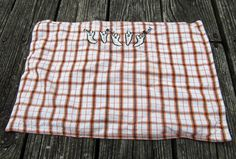 Country Primitive Plaid Ghost Autumn Fall Table Placemat Cloth Halloween Decor #Halloween