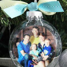 DIY Glass Photo Ornament Tutorial