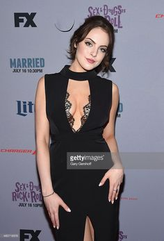 Actress Elizabeth Gillies attends the'Sex&Drugs&Rock&Roll' New York Series Premiere at SVA Theater on July 14, 2015 in New York City.