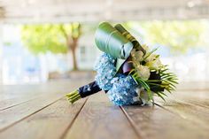 Blue Hydrangea Boquet from Black Iris Floral Events, Virginia Beach