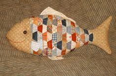 Patchwork Fish Pillow